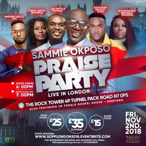 Origin Of Sammie Okposo Praise Party In Retrospect — Tour Hits Germany & USA In 2020