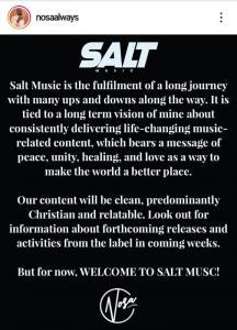 Nosa Floats Record Label – Salt Music